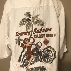 Tommy Bahama Men's SS Shirt-Excellent